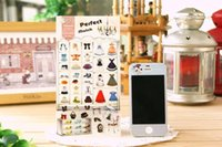 Wholesale Cute Sticker Dress - notebook or diry decorative DIY scrapbooking adhesive clear PET sticker for cute clothes dress shose design ----perfect match