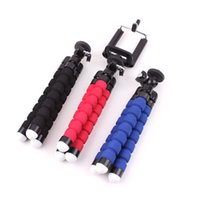 Wholesale Mini Flexible Tripod Rotating Mount Stand Universal Phone Holder Tripods with Clip Compact for iPhone Samsung GPS Camera for iphpne