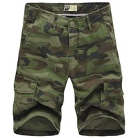 Wholesale Camouflage Fashion For Men - Wholesale-2016 Men Camouflage Shorts New Summer Fashion Designer Knee Length Cargo Shorts For Men Size 29-38 T0016