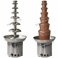Wholesale Electric Chocolate Fondue Fountain - Free Shipping 110v 220v Electric 7 Tiers 103cm Party Hotel Commercial Chocolate Fountain Fondue