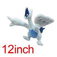 Wholesale Stuffed Lugia - 3 Style Poke Pocket Monsters Lugia 5.5-12inch Plush Doll Stuffed Toy Animals For Baby Gifts
