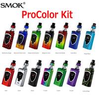 Wholesale Baby Display - Original SMOK ProColor 225W Starter Kits Multiple OLED Display Screen Pro color Kit with 5ml TFV8 Big Baby Tank 100% Genuine SmokTech