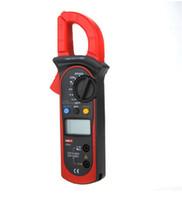 dc akım multimetresi toptan satış-UT201 400-600A Dijital Kelepçe Multimetre AC / DC Gerilim AC Akım Direnci Ohm Test Otomatik Aralığı DMM