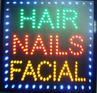 Wholesale Nail Signs - 2016 New coming Graphics 15mm indoor Ultra Bright 19X19 Inch hair nails facial business Shop sign of led