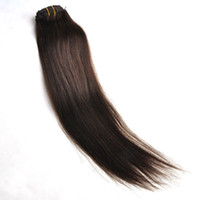 """Wholesale double wefted hair - 14""""-20"""" 140g Double Wefted Wavy Full Head Clip in Extension Body Wave Black Brown Blonde Piano Color"""