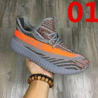 Wholesale 2017 SPLY Boost V2 New Kanye West Boost V2 SPLY Running Shoes Grey Orange Stripes Zebra Bred Black Red Color