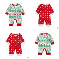 Wholesale Baby Boy Romper Free Dhl - Clothes Romper Boy Girl Newborn Elk Children Baby Infant Baby Cotton Christmas Romper Jumpsuit Baby Sleepsuit Outfits DHL Free Shipping