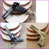 Wholesale Games Cross - Cross Fire Game Pistol Revolver Gun Handgun Keychain Key Chain CF Pendant Keychains Metal Key Ring For Men Jewelry Gift