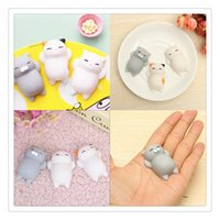 Wholesale Diy Phone Case Charms - Mini Squishy Cat Cute Phone Charms Squishies Slow Rising Soft Press Squeeze Kawaii Bread Cake Kids Toy Phone DIY Accessories Phone Case