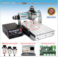 Wholesale Wood Engraving Machine Cnc - 3040ZQ USB 3axis cnc wood engraving machine with 300W water cooled spindle support laptop control