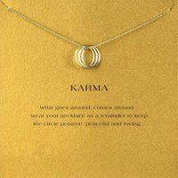 Wholesale Clavicle Ring - Dogeared Karma Three-Ring Necklace For Women Fashion Clavicle Jewelry