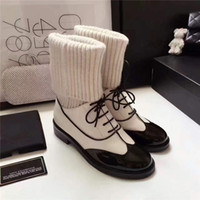 2017 Hot White Winter Boots Mujeres de cuero genuino Chunky Casual Shoes Bombas de cadena de lujo Brand Thigh Boosts