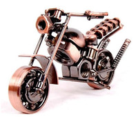 Wholesale Motorbike China - Free shipping 2017 new Creative metal crafts artware handiwork motorbike motorcycle model boys room decoration birthday gift present 5pcs