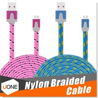 Wholesale Chinese Etc - Micro USB Cable Premium 3FT 6FT 10FT Nylon Fabric Braided USB 2.0 A Male to Micro B Data Sync and Charge Cables for Samsung,HTC,Sony etc