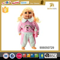 Wholesale Silicon Baby Dolls - 14 inch cotton body flash music baby Educational Toy Movealbe silicon joint princess baby doll with light