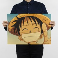 Wholesale Japanese Mural - ONE PIECE Japanese anime Home Furnishing decoration Kraft Game Poster Drawing core Wall stickers
