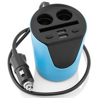 Wholesale Iphone Phone Only - Car Cup Charger for all Smart Phone Car Use Only Max 3.1A Black&Blue