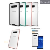 Wholesale Bumper Case Back Cover - For Samsung Note 8 Case Air Cushion Tech Shell Soft TPU Bumper Clear Back Cover Transparent Hybrid Armor Cases For Samsung Galaxy Note8