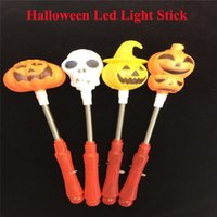 Halloween Pumpkin Skull Head Glowing Toys Led Light Stick Clignotant Stick Cheering Stick pour Halloween DHL gratuitement