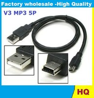 Buen cable MP3 / MP4 / MP5 V3 Mini USB Un varón a B Mini 5 Pin Cable de sincronización D171 Usb a 5p PARA DV Teléfonos Móviles 90CM