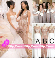 buy plus size customized wedding dress - Rose Gold Sequins Cheap 2015 Bridesmaid Formal Dresses for Beach Wedding Party Long Royal Blue Plus Size Floor-Length Maid of Honor Gowns