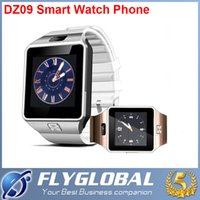 Wholesale Best Smartwatch - 2016 Latest smartwatch DZ09 Bluetooth Smart Watch Dz09 With SIM Card For Apple Samsung IOS Android Cell phone 1.56 inch best quality