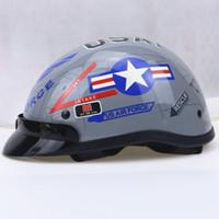 Wholesale Open Face Cross Helmet - Free shipping harley Motor Cross Helmet Vintage Style Open Face Half Motorcycle Capacete Motorcycle Helmet Visor