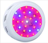 ingrosso luci girevoli gialle-x5 Led UFO Hydroponic Light Full Spectrum 150W 300W 90UFO Led Luci per impianti medicali ndoor Crescere Led Crescere Luci AC 85-265 V