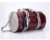 Wholesale Red Duffle Bags - duffle bag Outdoor Sports High-Quality PU Soft Leatherr Men Luggage & Travel Gym Bag