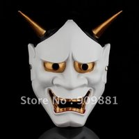Wholesale Prajna Ghost Mask - Prajna Ghost Mask Japanese Buddhism Scary Tokyo Ghoul Hannya Resin Masks Halloween Costume Slipknot Cosplay Party Supplies Free Shipping