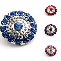 Wholesale 2016 Pack Of Color Metal Snap Buttons Charm Rhinestone Styles Button Rivca Snaps Jewelry NOOSA Chunk E637E