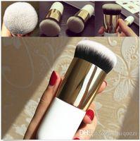 Wholesale Flat Kabuki - Beauty Foundation Blushes Flat Face Kabuki Powder Contour Makeup Brush Cosmetic