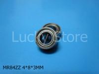 Wholesale Chrome Steel Ball Bearings - MR84ZZ bearing 10pcs Metal Sealed Miniature Mini Bearing Free shipping chrome steel MR MR84 ZZ 4*8*3mm deep groove bearing