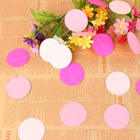 Wholesale Sky Decorative String - New Creative Party Decorations Paper Garland Strings Circle Wedding Party Baby Shower Hanging Decoration 3 Colors