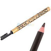 Wholesale Top Waterproof Eyebrow Pencil - Wholesale- 2016 Top Quality HotWholesale Women's Waterproof Leopard Brown Eyebrow Enhancer Pencil with Brush Make Up Tool 8AQZ