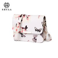 Wholesale SHYAA Mimeograph Printing Bags Women Bags Women Messenger Bags Butterfly Style Shoulder Handbags drop shipping
