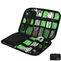 Wholesale Disk Cases - Data Cable Line Wire Feed Bag Organizer Storage Bags Practical Handset Accessories Pouch Case Digital Electric Flash Disk
