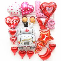 Wholesale Balloon Cars - New arrival Wedding car foil balloons Wedding decorations Party favors Valentine day gift Happy forever toy balloon