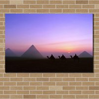Famoso paesaggio Pyramid Painting SUNSET Canvas Prints Pittura HOME DECOR Cnavs Picture Poster