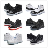Wholesale Cheap Yellow Gold Bands - 2017 Cheap Retro 11 Bred Basketball Shoes Men Women Space Jam 11s Sport Shoes Concords XI Moon Landing Athletics Sneakers With Box