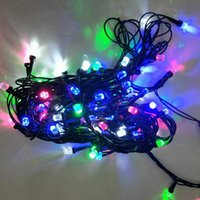 Multicolore LED Light Strip Lampe Noël Noël Party String Light ampoule à piles scintillantes New Year Wedding Decorations