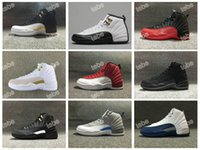 Wholesale Perfect Game - Super Perfect Quality Retro 12 Basketball Shoes Wings Flu Game 12 French Blue 12 The Master 12 OVO 12 With Box Men Sport Sneakers Size 41-47