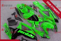 Wholesale Custom Painted Gsxr - Full fluorescent green custom painted injection molding fairings Suzuki GSXR 600 750 2006-2007 14