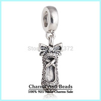 Wholesale Silver Ballet Slippers - crown bracelets Silver Ballet Slipper Dangle Charm 925 ale sterling silver charms loose beads diy jewelry for thread bracelet DF550