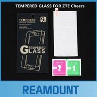 klarer film großhandel-200 STÜCKE 0,26mm Hohe Clear LCD Front explosionsgeschützte Gehärtetem Glas Film für ZTE Cheers Displayschutzfolie