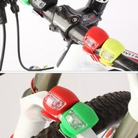 Wholesale Silicone Bike Light Wholesale - Waterproof Silicone Bike Tail Head Front Rear Wheel LED Flash Bicycle Light Lamp Include battery Free DHL