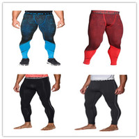 Wholesale Waist Slim Under Pants - GOOD Leggins Tights gym Armour top quality pants Under outdoor running High Elastic quick-drying sports pant for men