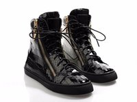 Wholesale Boots Metal Chain Flat - 2016 stylish Winter black leather metal charm double zipper ladies short Martin boots round toe flat heel Motorcycle boots