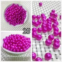 Wholesale Pine Beads - Dyed AAAA 6-7mm Round Pearl Oyster DIY Pine Beads Bracelet Necklace Pearl Pendant Jewelry Romantic Birthday Lovely Gift