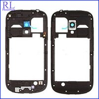 Wholesale galaxy volume button - 10pcs lot Middle Plate Frame Bezel housing For Samsung Galaxy S3 mini I8190 with volume and Power button